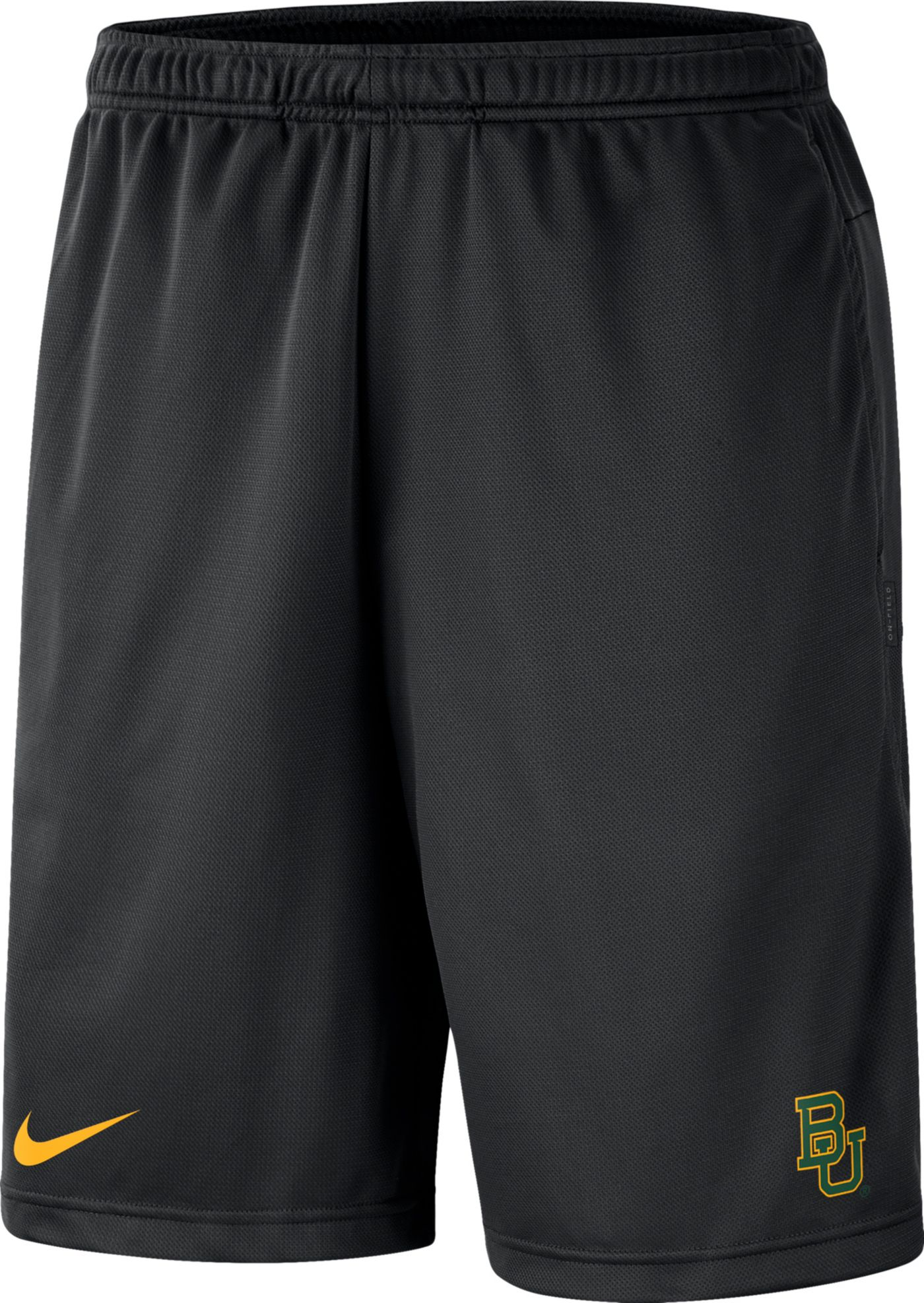 Nike Men's Baylor Bears Dri-FIT Coach Black Shorts