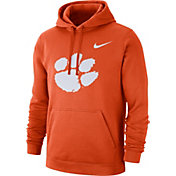 Nike Men's Clemson Tigers Orange Club Fleece Pullover Hoodie