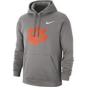 Nike Men's Clemson Tigers Grey Club Fleece Pullover Hoodie