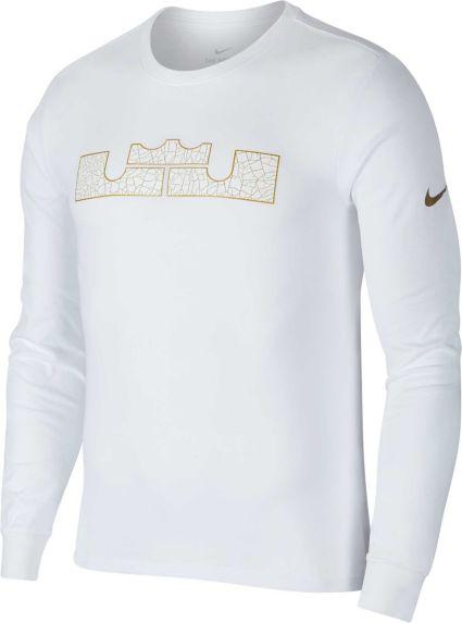 8f84ba7d9e5 Nike Men s Dry LBJ Strongest Long Sleeve Graphic Tee