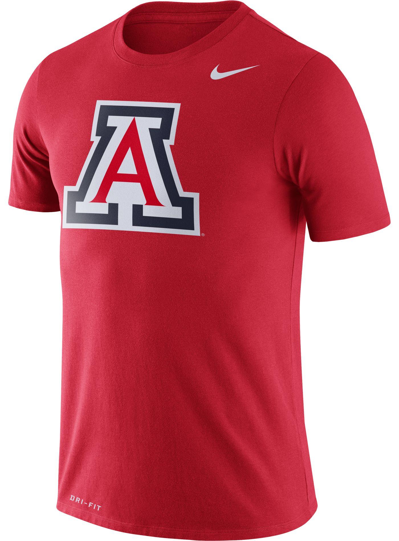 Nike Men's Arizona Wildcats Red Logo Dry Legend T-Shirt