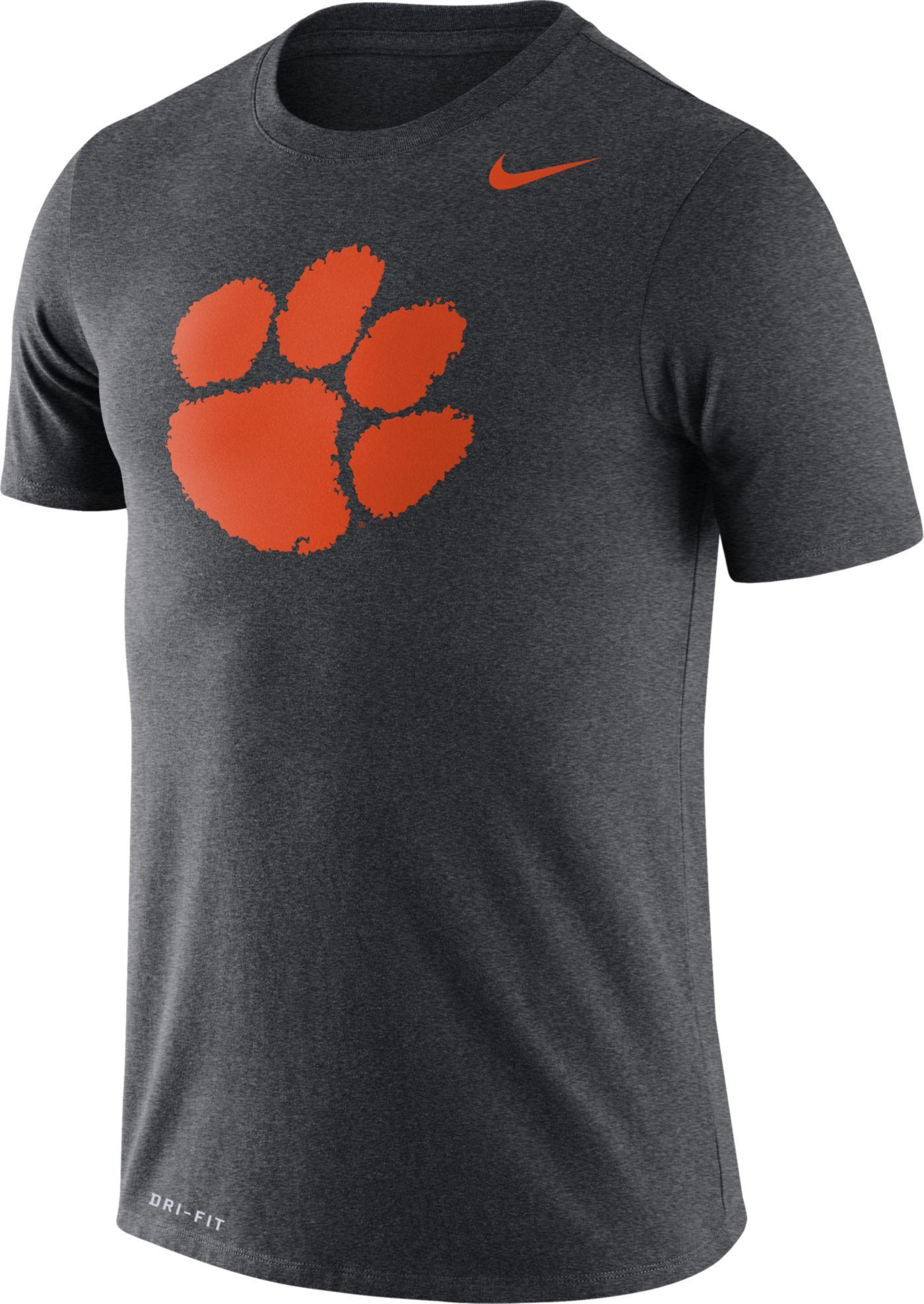 Nike Men's Clemson Tigers Grey Logo Dry Legend T-Shirt