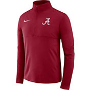 Nike Men's Alabama Crimson Tide Crimson Long Sleeve Core Half-Zip Pullover Shirt