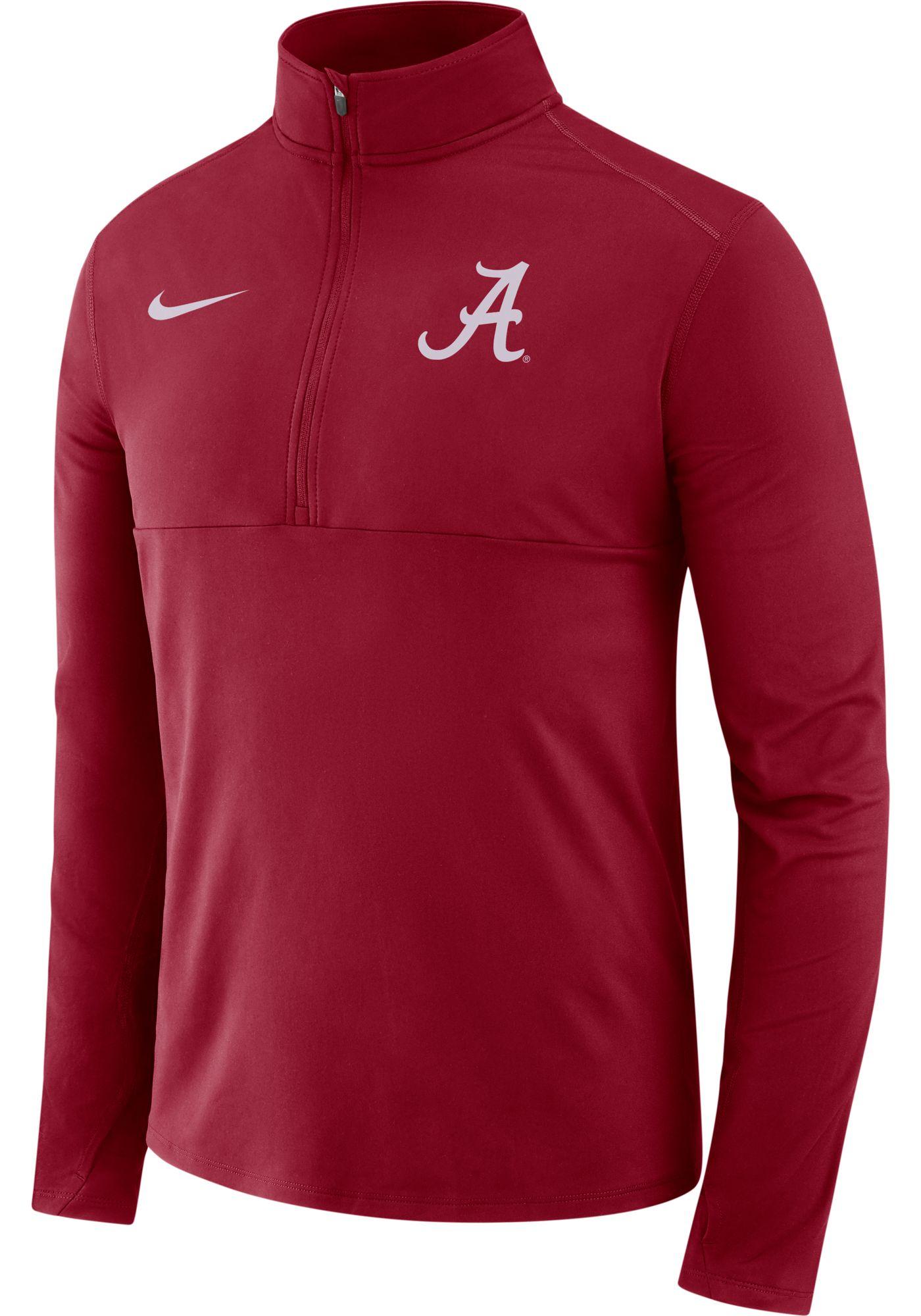 Nike Men's Alabama Crimson Tide Crimson Long Sleeve Core Half-Zip Shirt