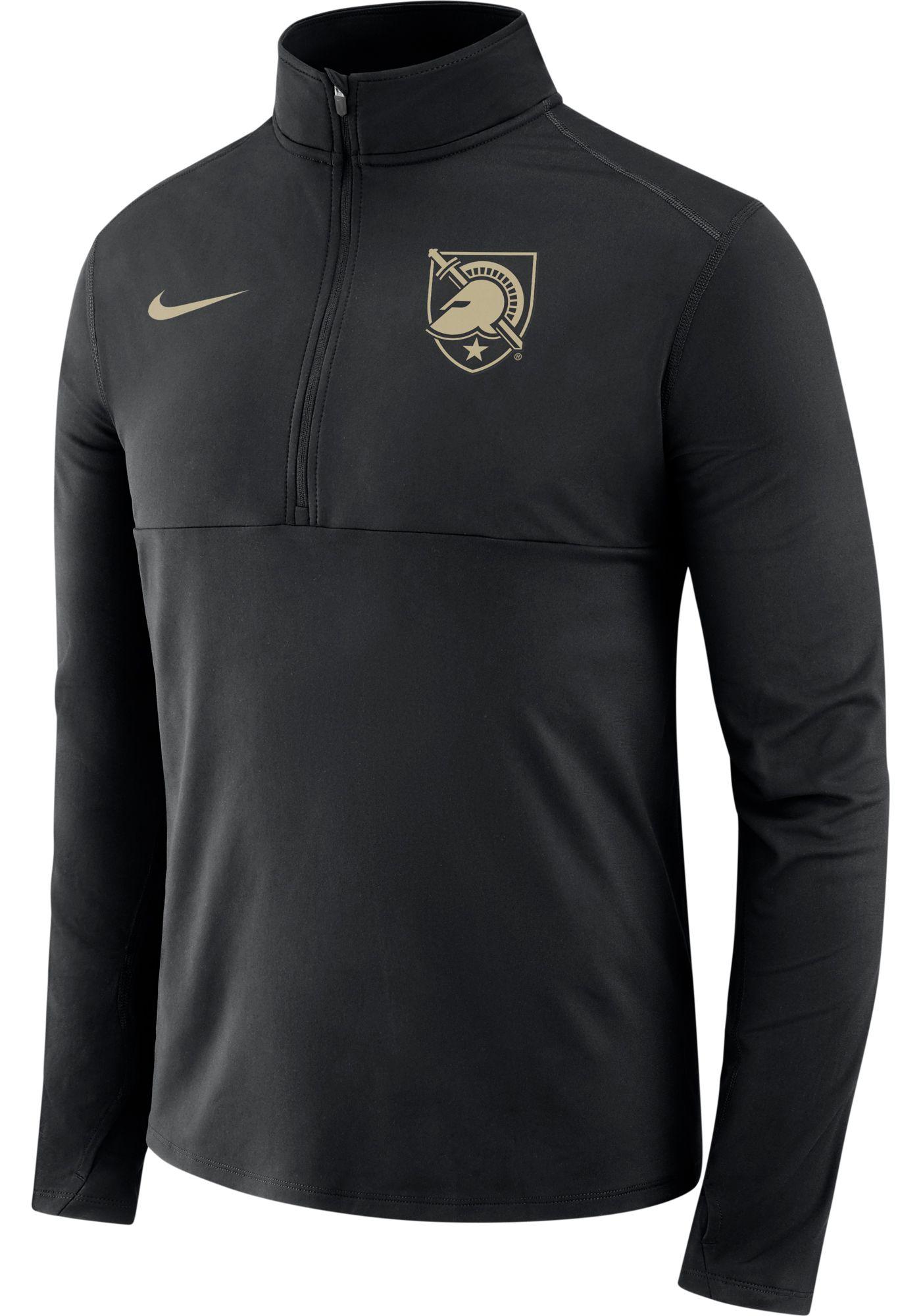 Nike Men's Army West Point Black Knights Army Black Long Sleeve Core Half-Zip Shirt