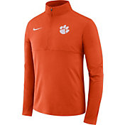 Nike Men's Clemson Tigers Orange Long Sleeve Core Half-Zip Shirt