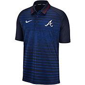 Nike Men's Atlanta Braves Striped Polo