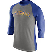 270f200fd26cb Product Image · Nike Men s Milwaukee Brewers Dri-FIT Raglan Three-Quarter  Sleeve Shirt