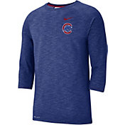 Nike Men's Chicago Cubs Dri-FIT Slub Three-Quarter Sleeve Shirt