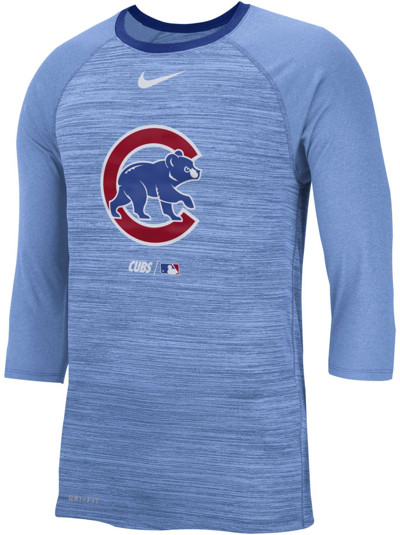 Nike Men's Chicago Cubs Dri-FIT Authentic Collection Legend Three-Quarter Sleeve Shirt