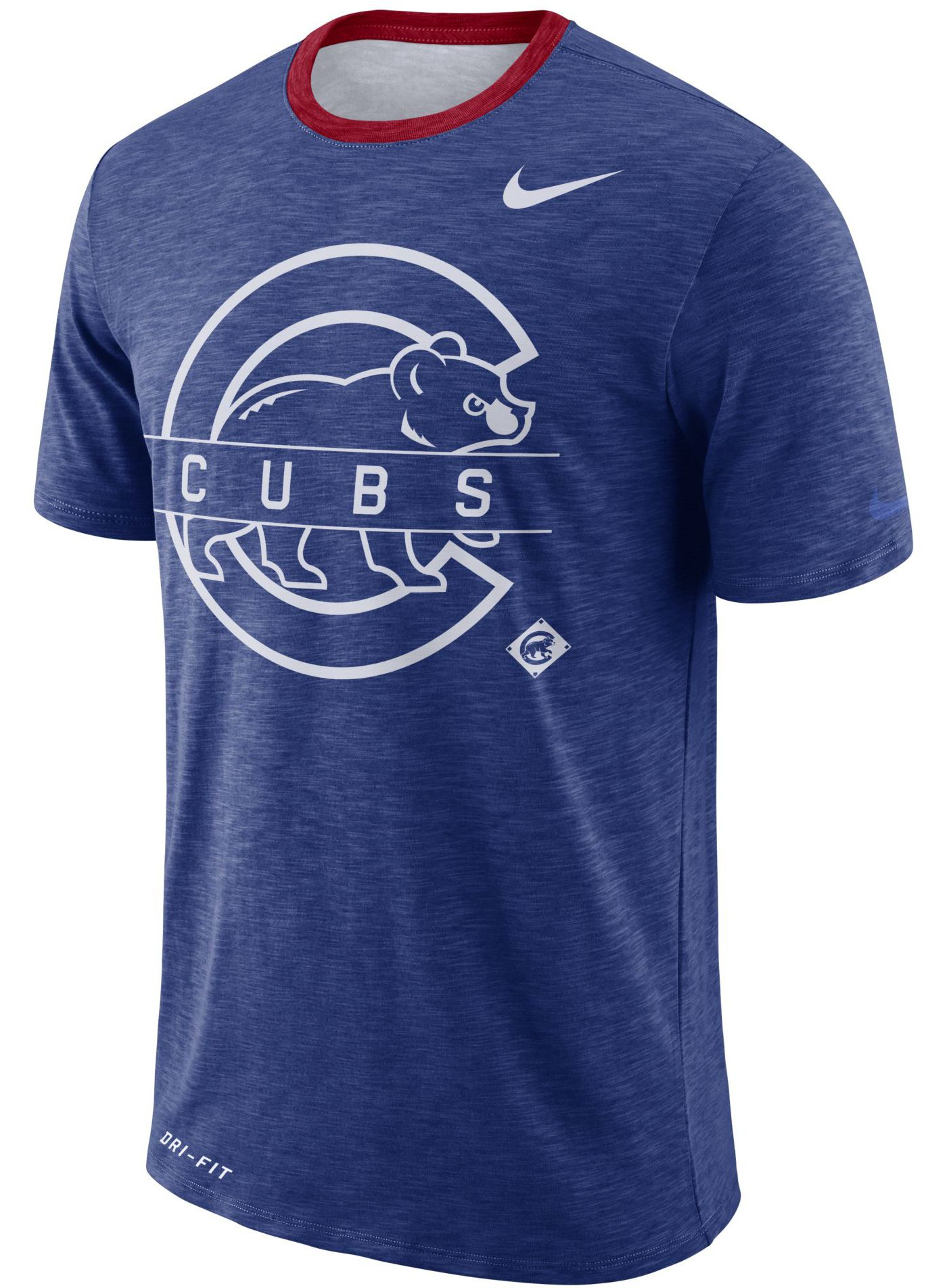 Nike Men's Chicago Cubs Dri-FIT Slub Logo T-Shirt