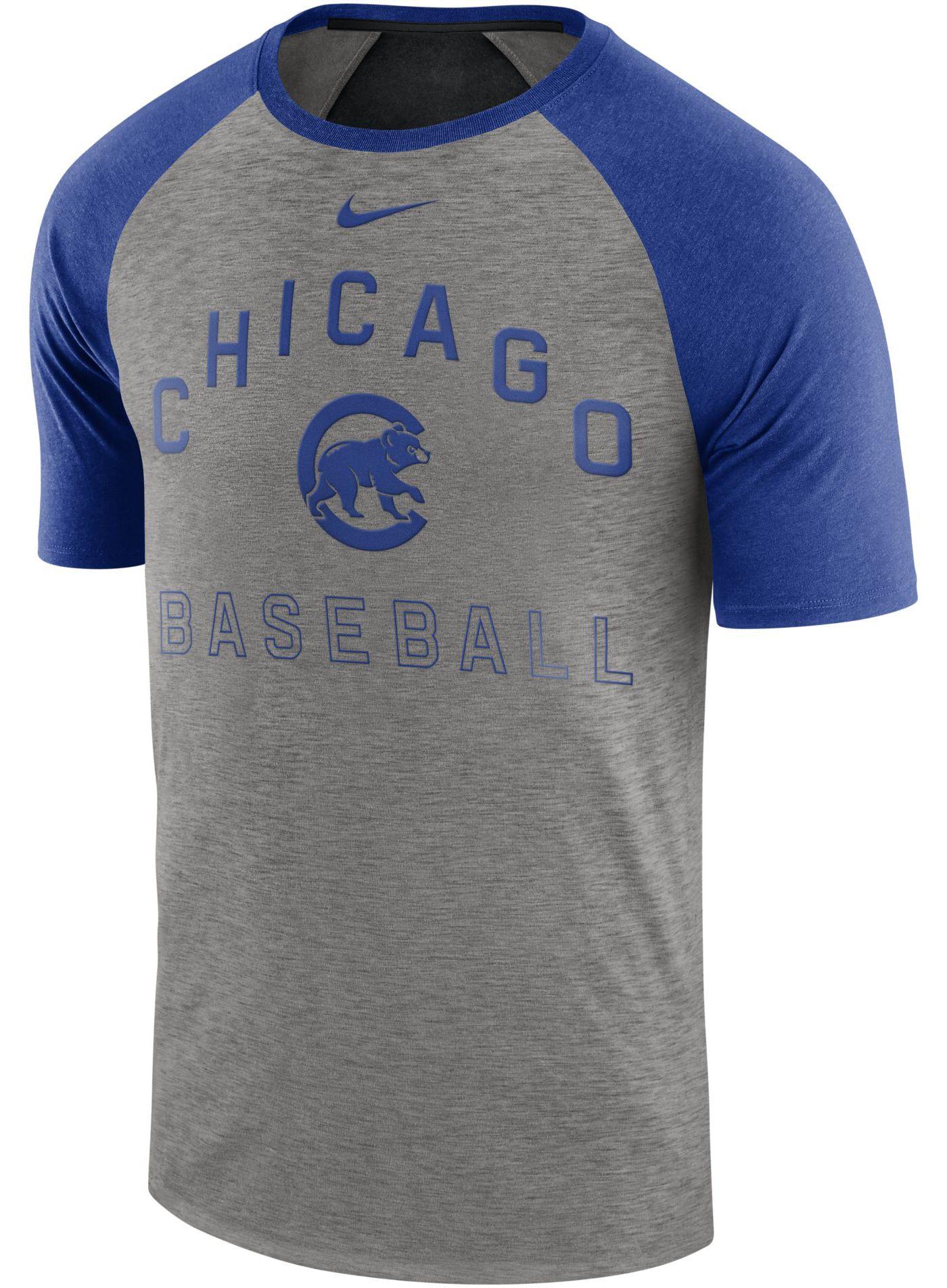 Nike Men's Chicago Cubs Dri-FIT Slub Raglan T-Shirt