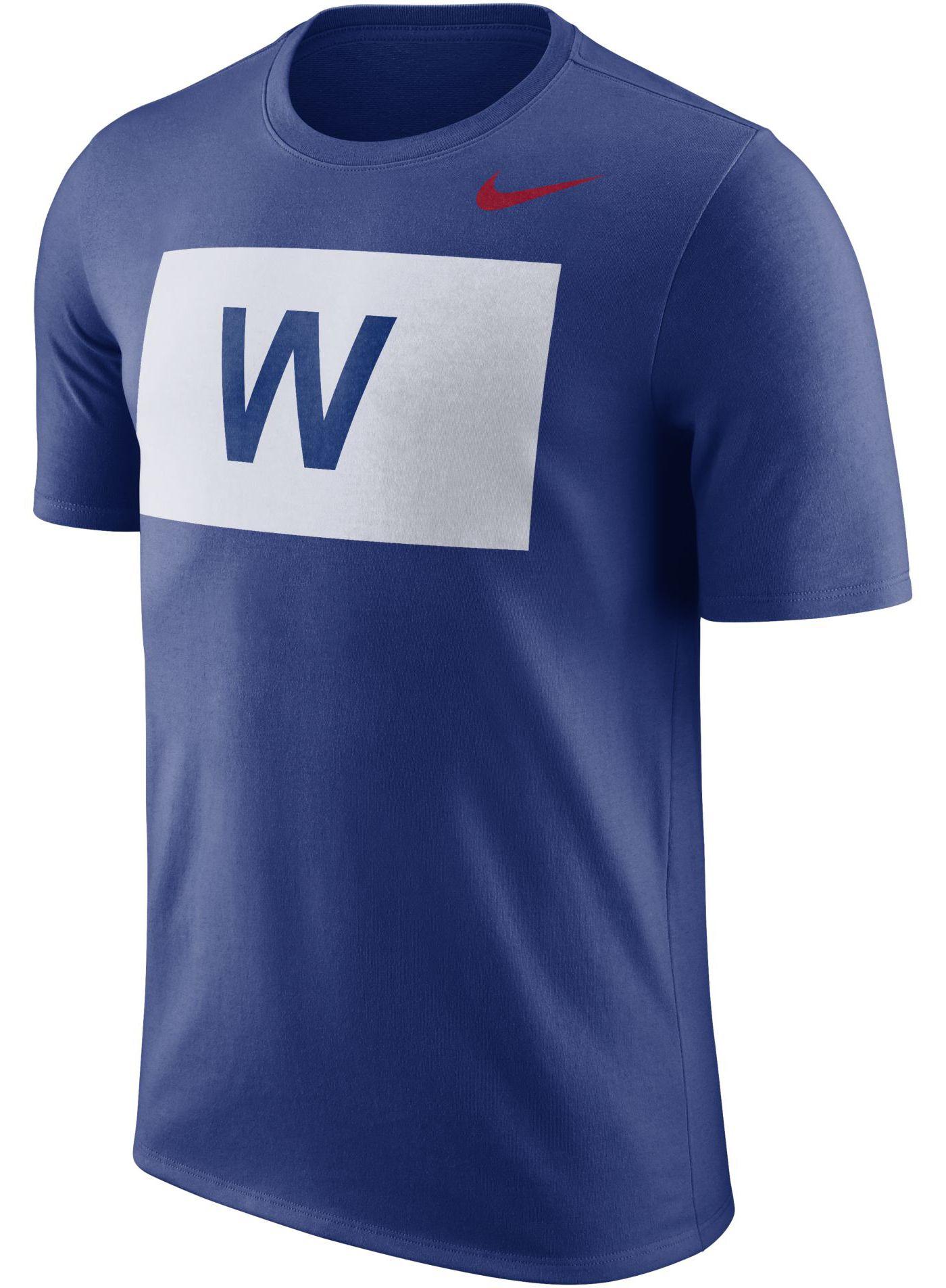 "Nike Men's Chicago Cubs Dri-FIT ""W Flag"" T-Shirt"