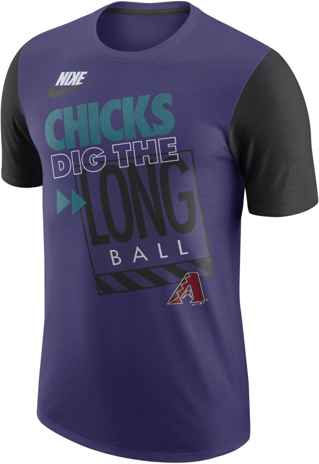 0cb0cfe0 Nike Men's Arizona Diamondbacks Dri-FIT ''Chicks Dig The Long Ball ...