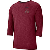 Nike Men's Arizona Diamondbacks Dri-FIT Slub Three-Quarter Sleeve Shirt