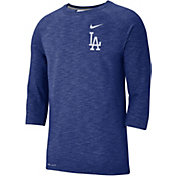 Nike Men's Los Angeles Dodgers Dri-FIT Slub Three-Quarter Sleeve Shirt