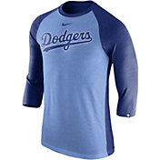 Nike Men's Los Angeles Dodgers Dri-FIT Raglan Three-Quarter Sleeve Shirt