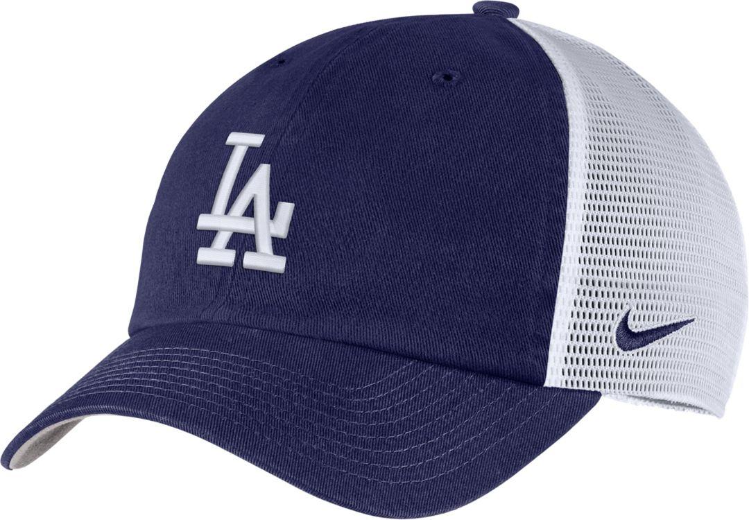 77a8607b7 Nike Men's Los Angeles Dodgers H86 Trucker Adjustable Hat