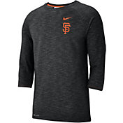 Nike Men's San Francisco Giants Dri-FIT Slub Three-Quarter Sleeve Shirt