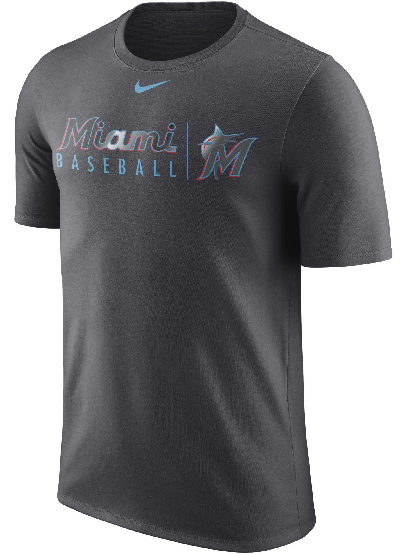 Nike Men's Miami Marlins Practice T-Shirt