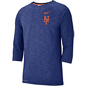 Nike Men's New York Mets Dri-FIT Slub Three-Quarter Sleeve Shirt