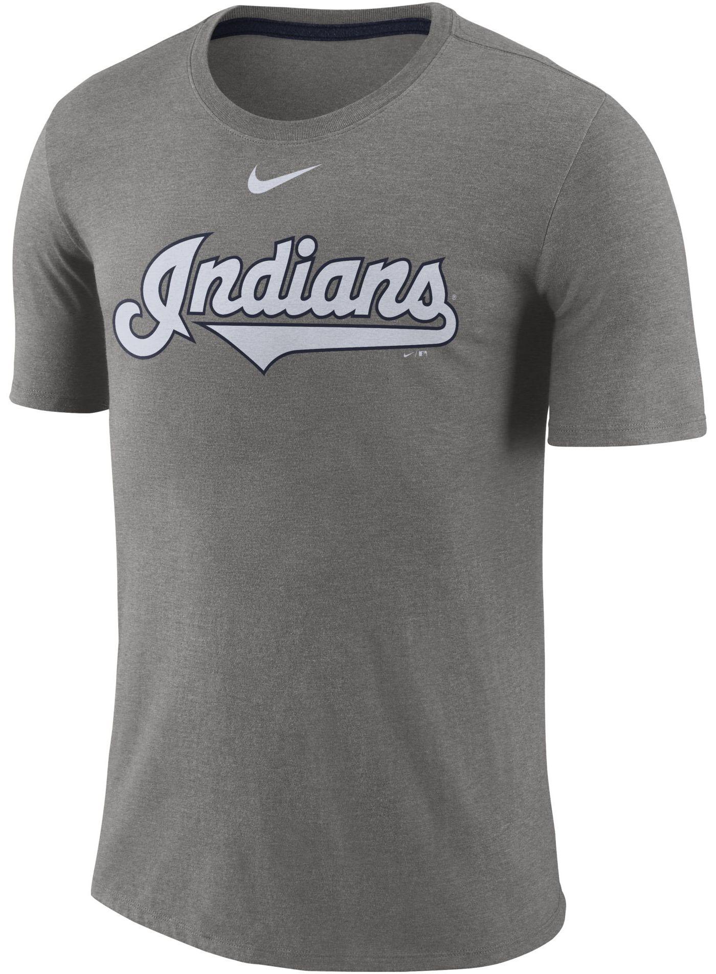 Nike Men's Cleveland Indians Tri-Blend T-Shirt