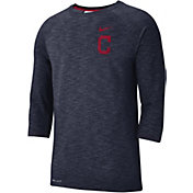 Nike Men's Cleveland Indians Dri-FIT Slub Three-Quarter Sleeve Shirt