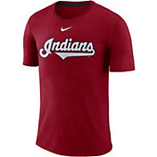 Nike Men's Cleveland Indians Tri-Blend T-Shirt