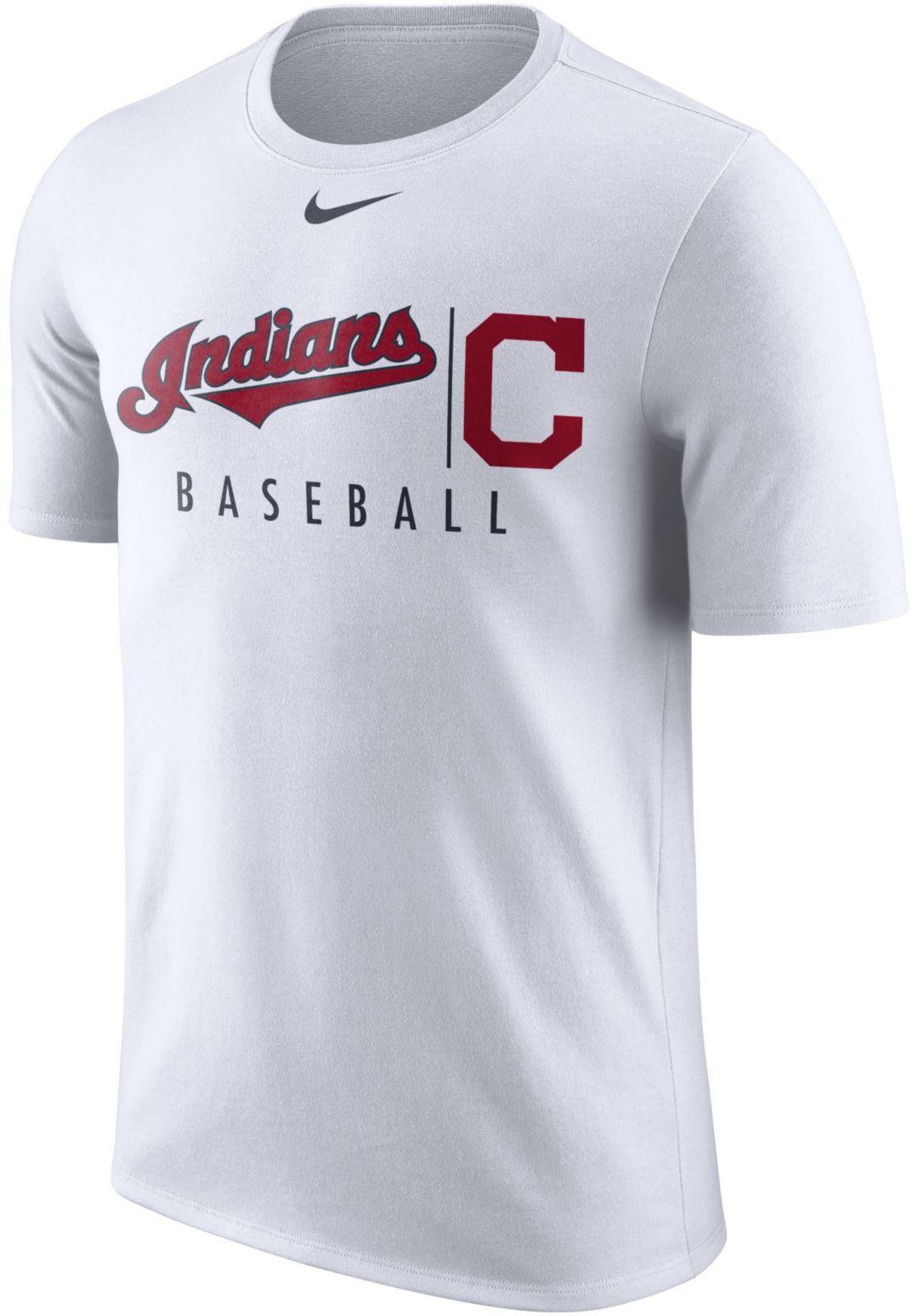 buy online f11f3 54490 Nike Men's Cleveland Indians Practice T-Shirt