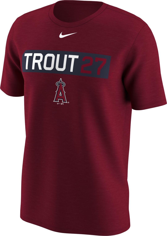 c199ff6e80e Nike Men's Los Angeles Angels Mike Trout Dri-FIT Red Legend T-Shirt ...