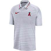 Nike Men's Los Angeles Angels Striped Polo