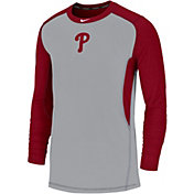 Nike Men's Philadelphia Phillies Authentic Collection Dri-FIT Long Sleeve Top