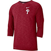 Nike Men's Philadelphia Phillies Dri-FIT Slub Three-Quarter Sleeve Shirt