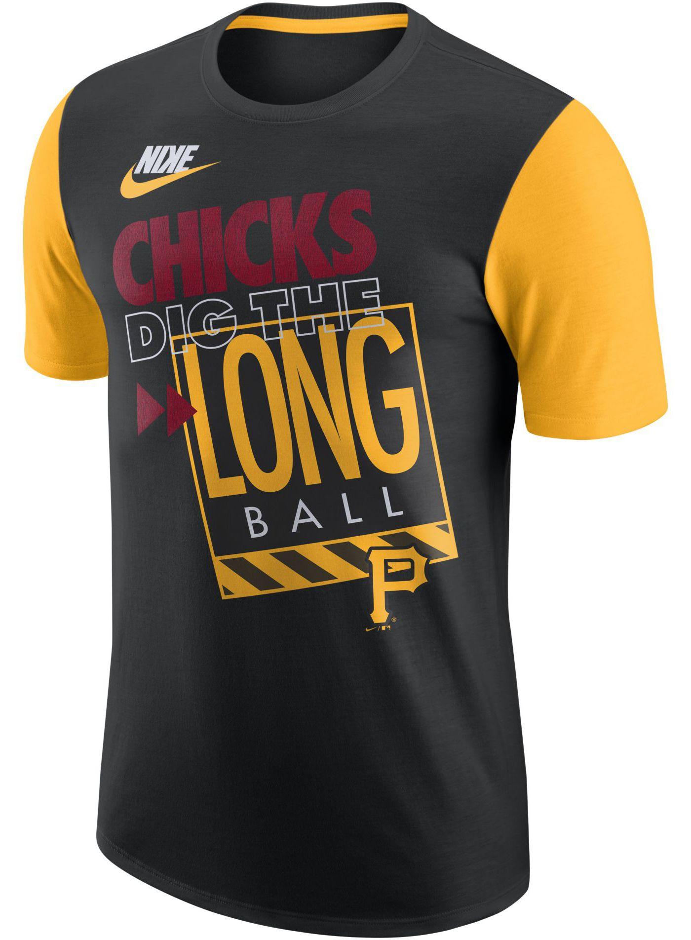 Nike Men's Pittsburgh Pirates Dri-FIT ''Chicks Dig The Long Ball'' T-Shirt