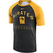 Nike Men's Pittsburgh Pirates Dri-FIT Slub Raglan T-Shirt