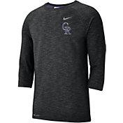 Nike Men's Colorado Rockies Dri-FIT Slub Three-Quarter Sleeve Shirt