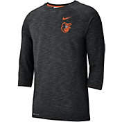Nike Men's Baltimore Orioles Dri-FIT Slub Three-Quarter Sleeve Shirt