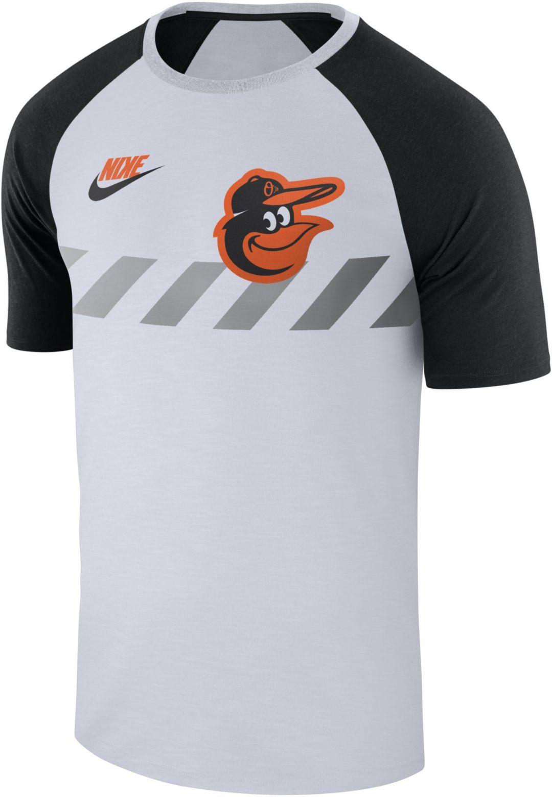 info for f0776 a7de9 Nike Men's Baltimore Orioles Dri-FIT Raglan T-Shirt