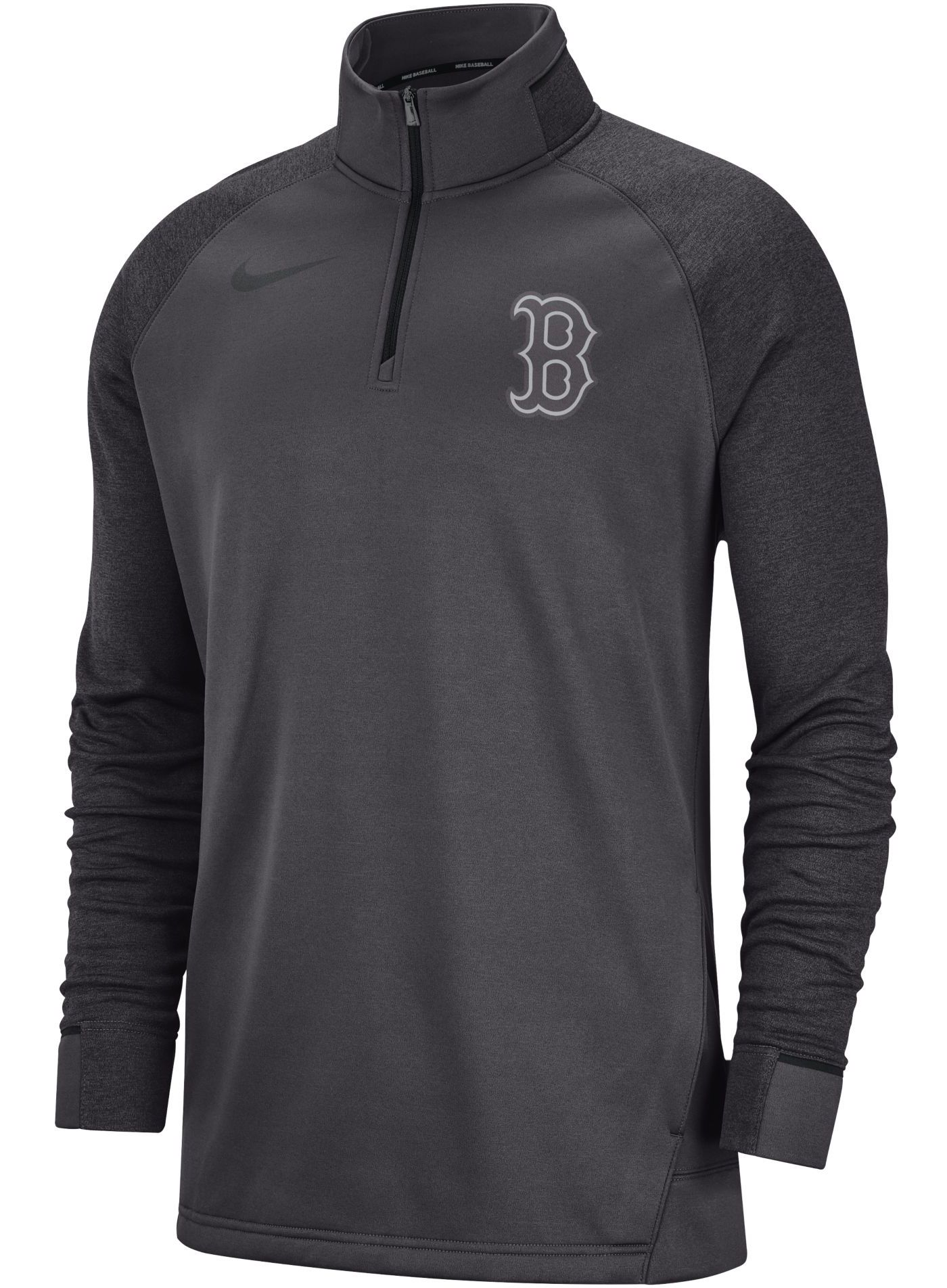Nike Men's Boston Red Sox Dri-FIT Elite Half-Zip Pullover
