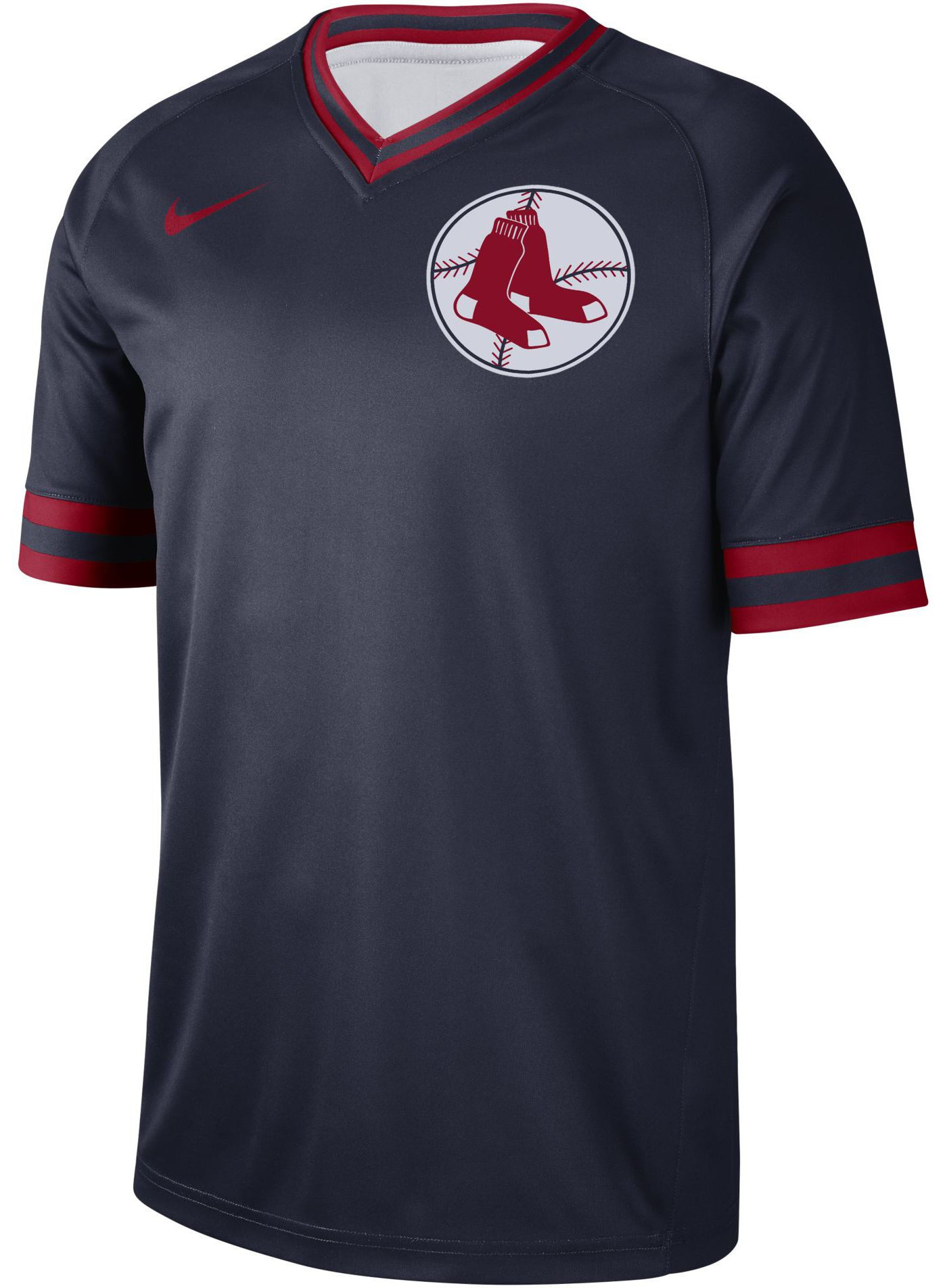 Nike Men's Boston Red Sox Cooperstown V-Neck Pullover Jersey
