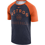 Nike Men's Houston Astros Dri-FIT Slub Raglan T-Shirt