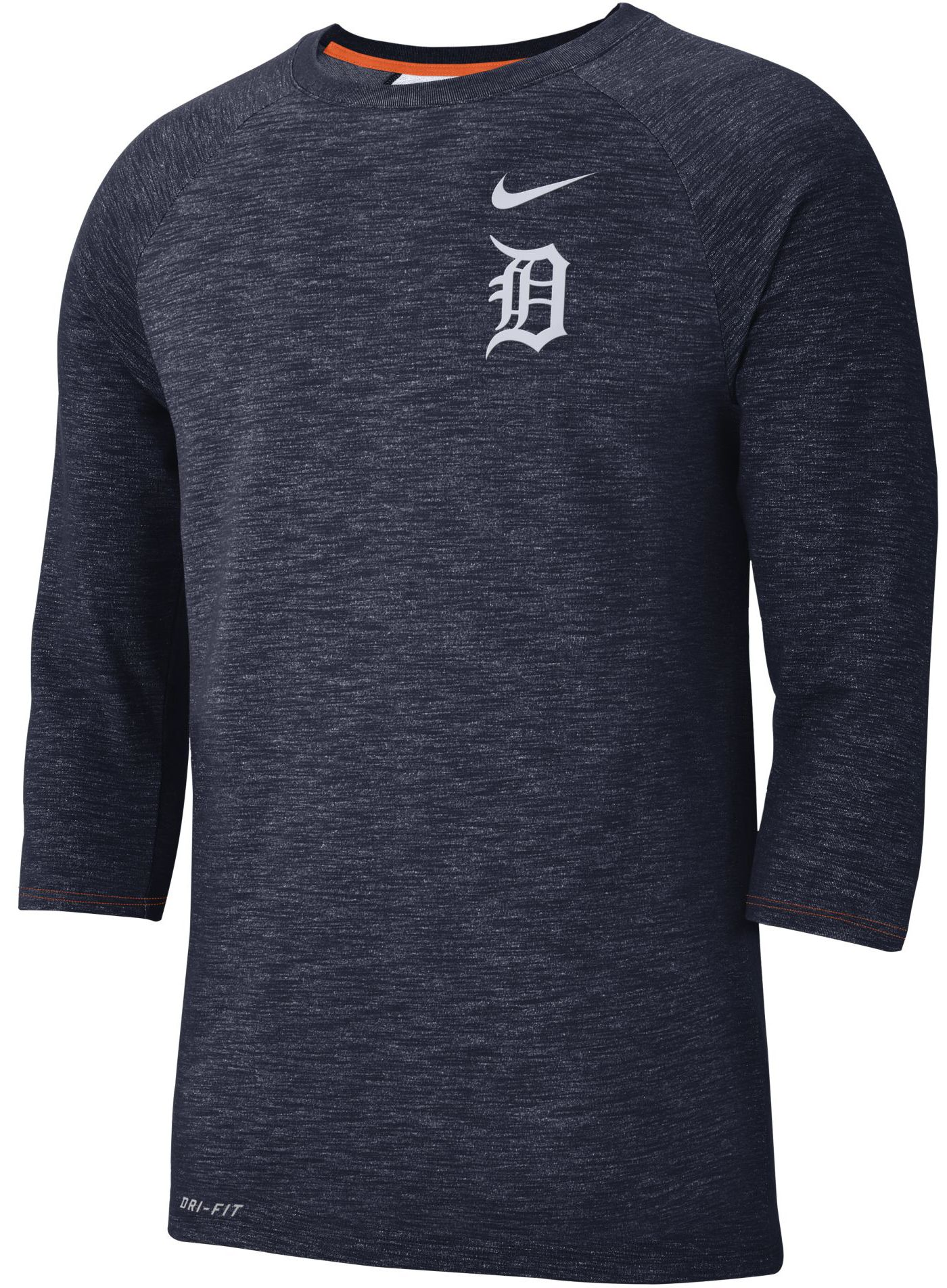 Nike Men's Detroit Tigers Dri-FIT Slub Three-Quarter Sleeve Shirt