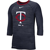 Nike Men's Minnesota Twins Dri-FIT Authentic Collection Legend Three-Quarter Sleeve Shirt