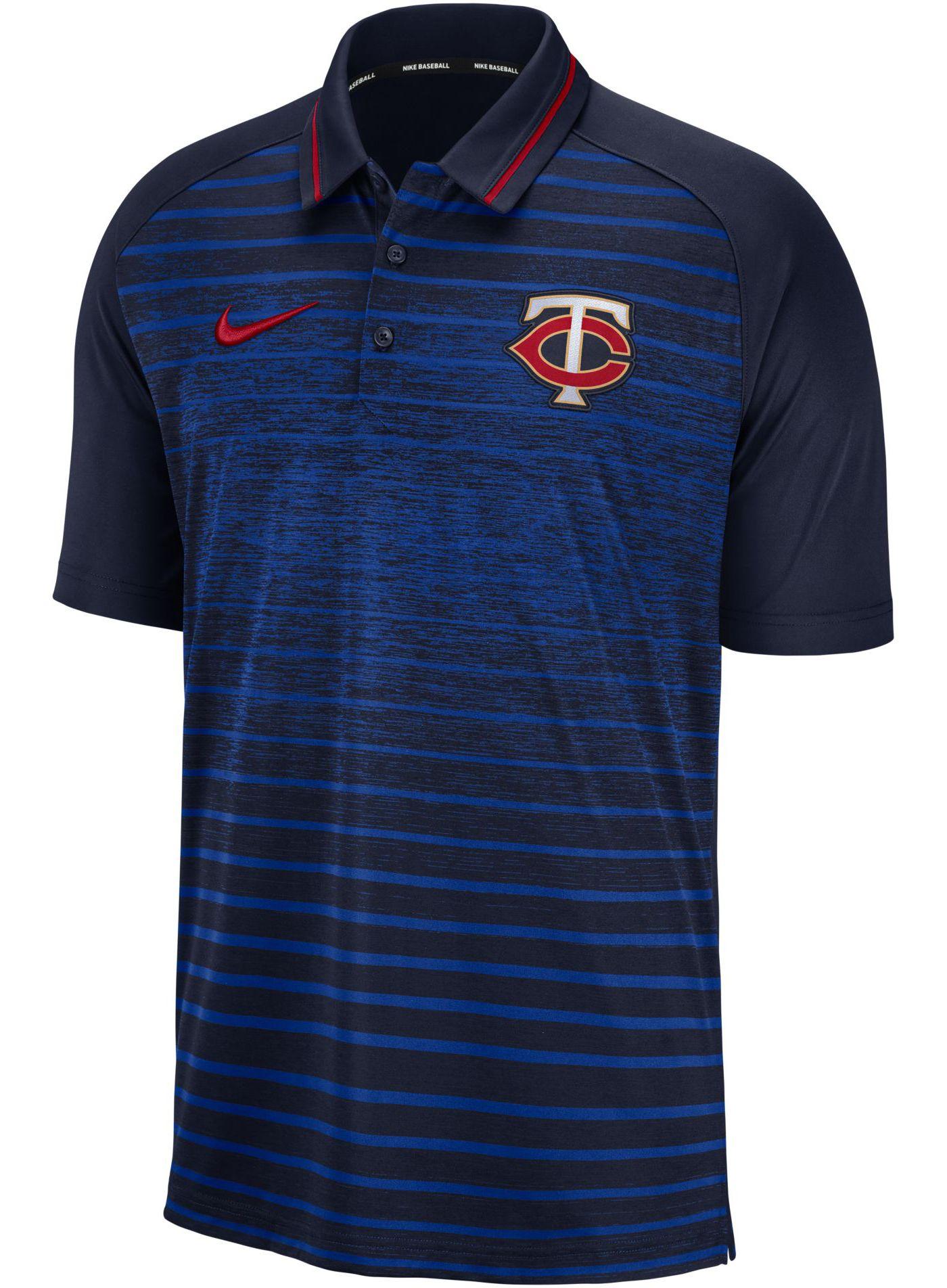 Nike Men's Minnesota Twins Striped Polo