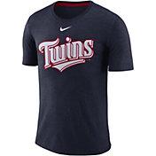 Nike Men's Minnesota Twins Tri-Blend T-Shirt