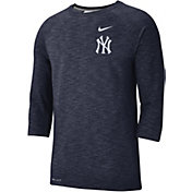Nike Men's New York Yankees Dri-FIT Slub Three-Quarter Sleeve Shirt