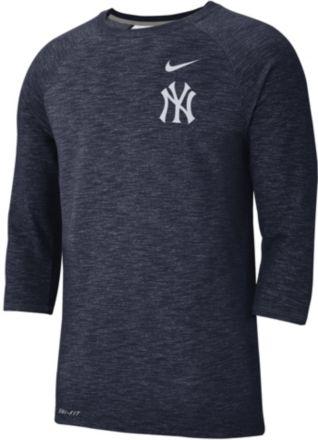 8666df24 Nike Men's New York Yankees Dri-FIT Slub Three-Quarter