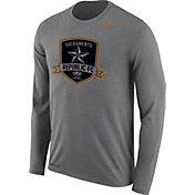 Nike Men's Sacramento Republic FC Logo Legend Heather Grey Performance Long Sleeve Shirt