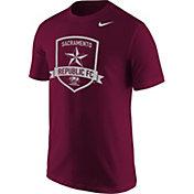Nike Men's Sacramento Republic FC Logo Maroon T-Shirt