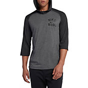 Nike Men's 3/4 Fleece Top Flux Baseball Hoodie